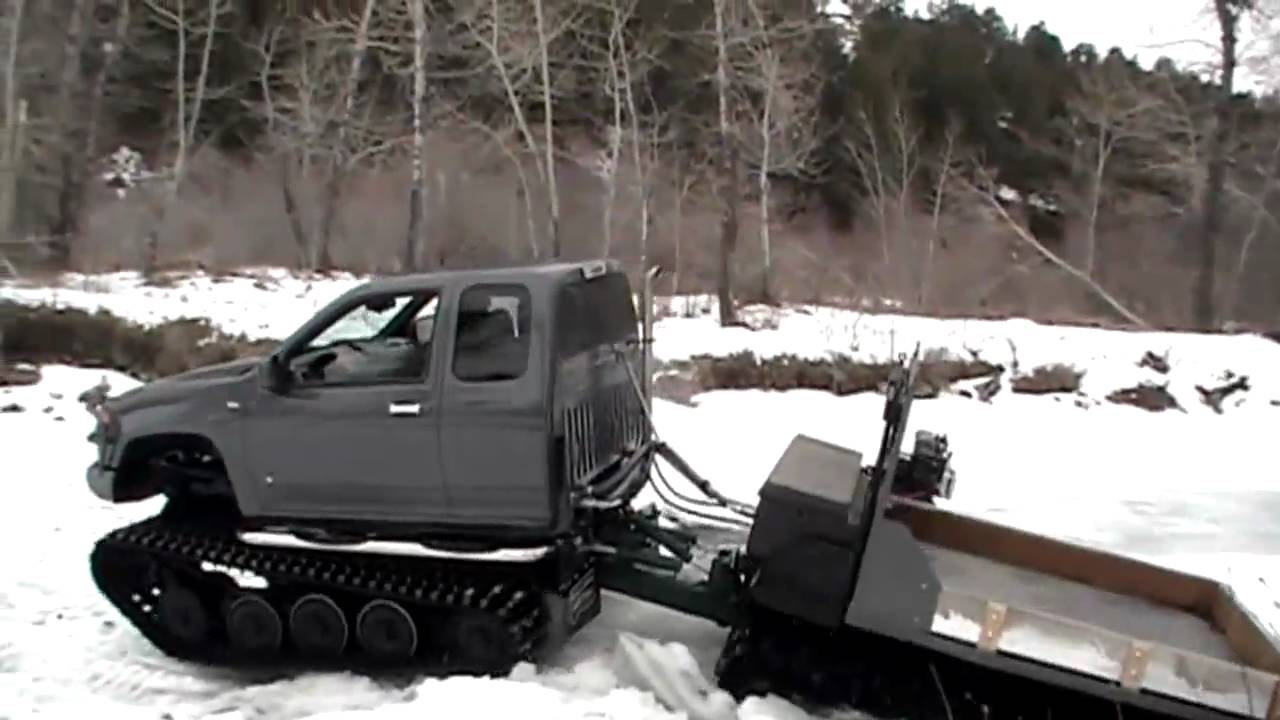 Chevy Colorado - Extreme Hagglunds Traction Tracks - YouTube