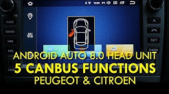 5 CanBus Functions on Android Auto 8.0 Head Unit