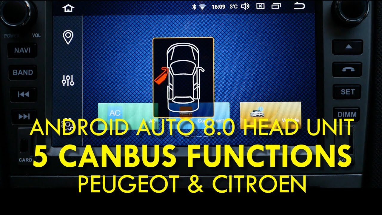 5 CanBus Functions on Android Auto 8 0 Head Unit