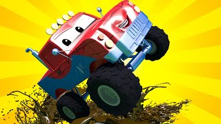 Tom the Tow Truck -  Tyler The Tyker Gets Hurt at Marley's Stunt Show! - Car City ! Trucks Cartoons
