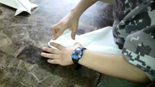 How to make a paper plane canard