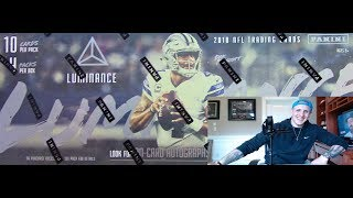 2018 Luminance Football Unboxing - 4 hits - SILVER INK AUTO