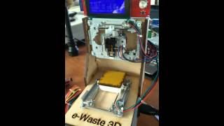Curiosity EWaste 3D Printer Running On SD Card