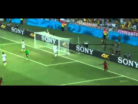 Asamoah Gyan Goal   Germany vs Ghana 1-2   World Cup 2014