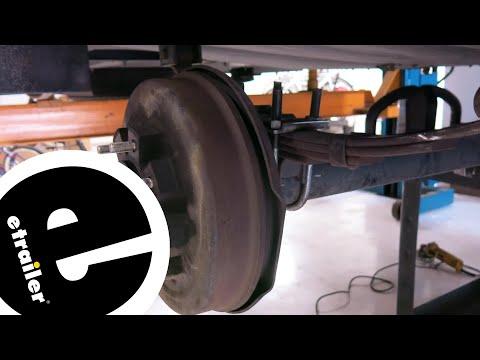 Redline Round Trailer Axles U-Bolt Mounting Kit Installation - etrailer.com