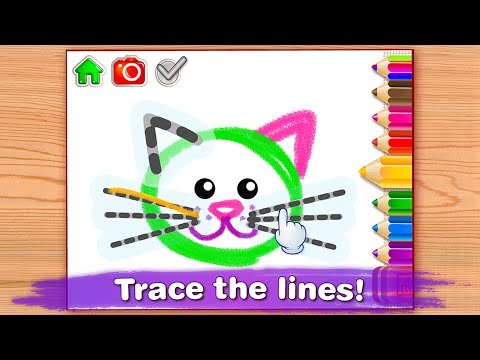 """Drawing for Kids Toddler """"Bini Bambini Education Games"""" Android Gameplay Video PART 2"""