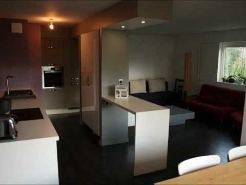 r novation cuisine ouverte sur salon 85 m grenoble youtube. Black Bedroom Furniture Sets. Home Design Ideas