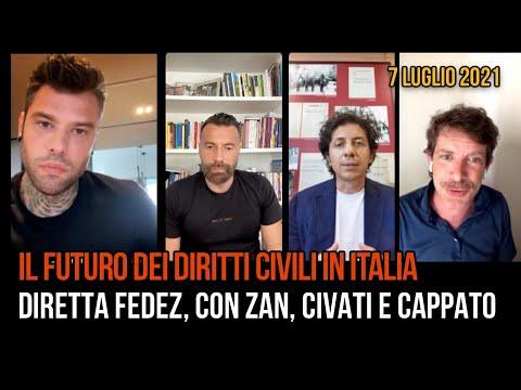 La diretta di Fedez con Zan, Civati e Cappato sul futuro dei diritti civili in Italia