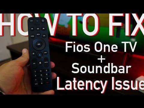 Fios One TV + Soundbar Latency Fix