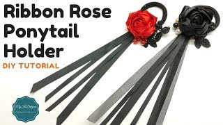 New Video. Ribbon Rose Pony Tail Holder. Happy Crafting!!! ♡ ❀ ♡ ❀ ...