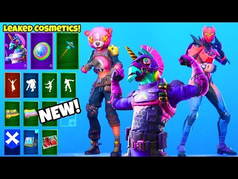 *NEW* Skins & Emotes! (FREE Rewards, LEGENDARY Emote, Encrypted Emote LEAKED) Fortnite Battle Royale