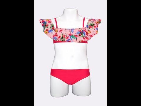 Цветной купальник для девочек Keyzi Flamingo Small
