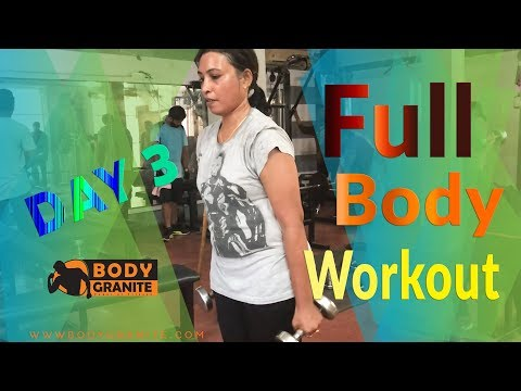 Full body workout ( Day 3 ) Train to Tone Weight loss for women ( Hindi )