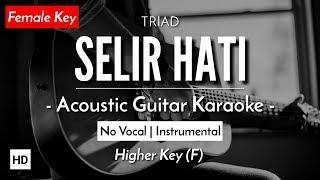 [Karaoke] Selir Hati - TRIAD (Feby Putri Version) Gitar Akustik+Lirik
