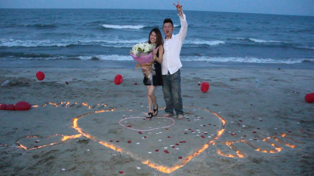 Lighting Of Love Wedding Proposal Denny Stella TC Beach Kuantan