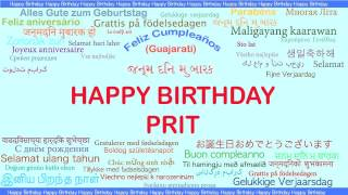 Prit   Languages Idiomas - Happy Birthday