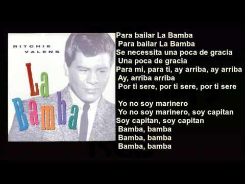 Ritchie Valens  La Bamba  with Lyrics