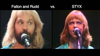 Jimmy FALLON and Paul RUDD vs STYX - TOO MUCH TIME ON MY HANDS