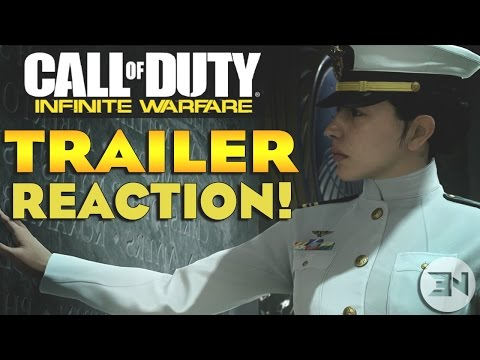 """""""Official Call of Duty®: Infinite Warfare Reveal Trailer"""" LIVE REACTION!"""