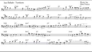 Trombone jazz Improvisation lesson - Beginner Level - Road to Paris score