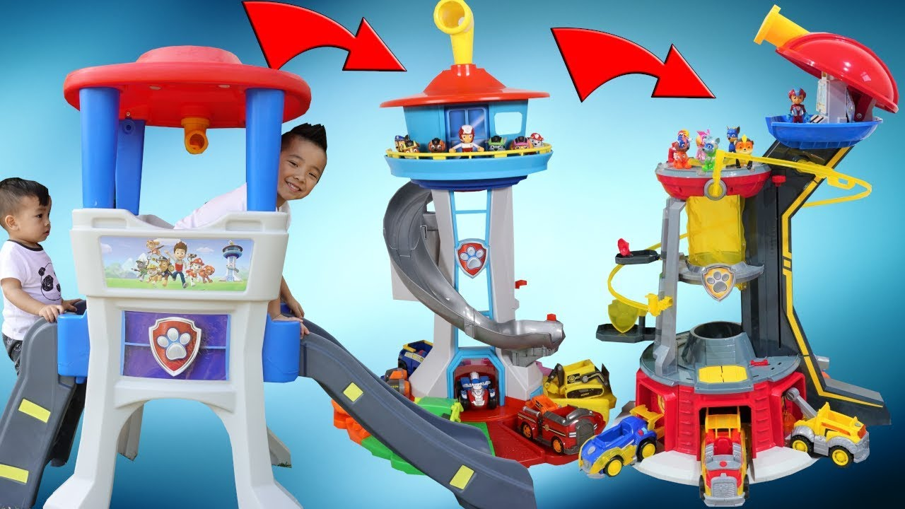 3 PAW Patrol Lookout Tower Playtime Fun With CKN Toys