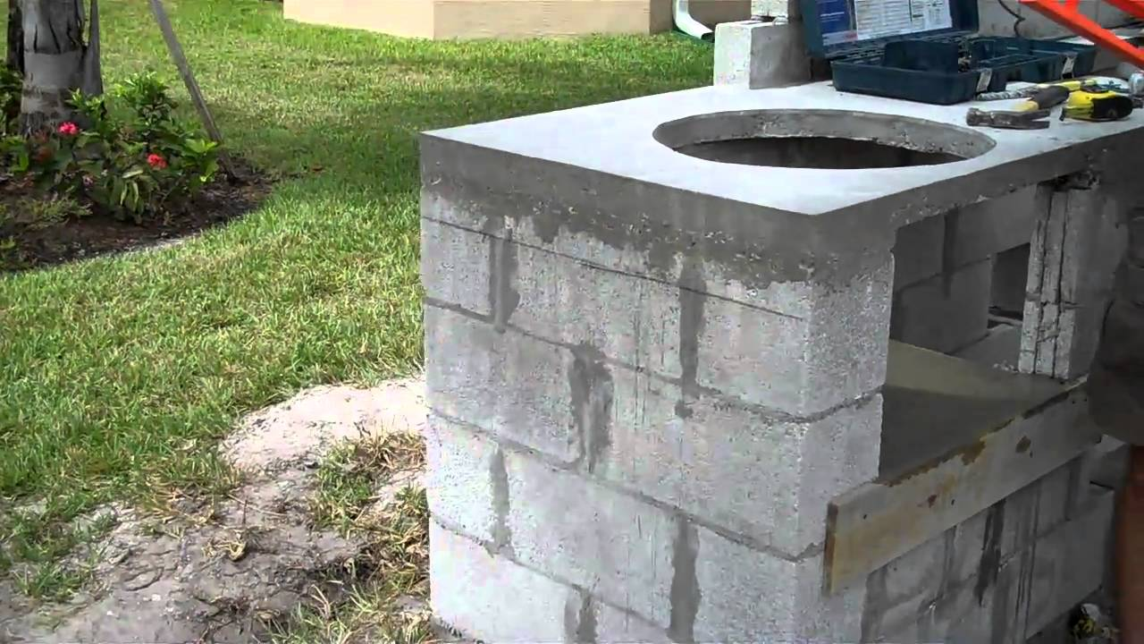 Cinder Block Outdoor Kitchen Concrete Outdoor Kitchen Overview And Tips During Construction