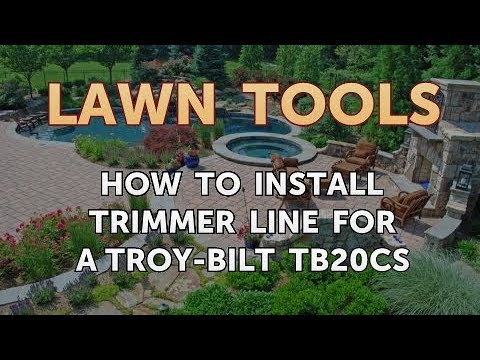 How To Install Trimmer Line For A Troy Bilt Tb20cs