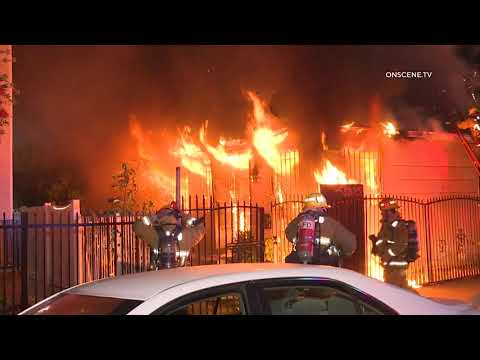 Flames Rip Through Family Residence in Los Angeles