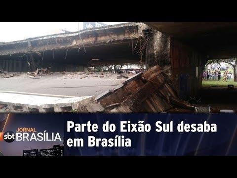 Cobertura Especial: Parte do Eixão Sul desaba em Brasília