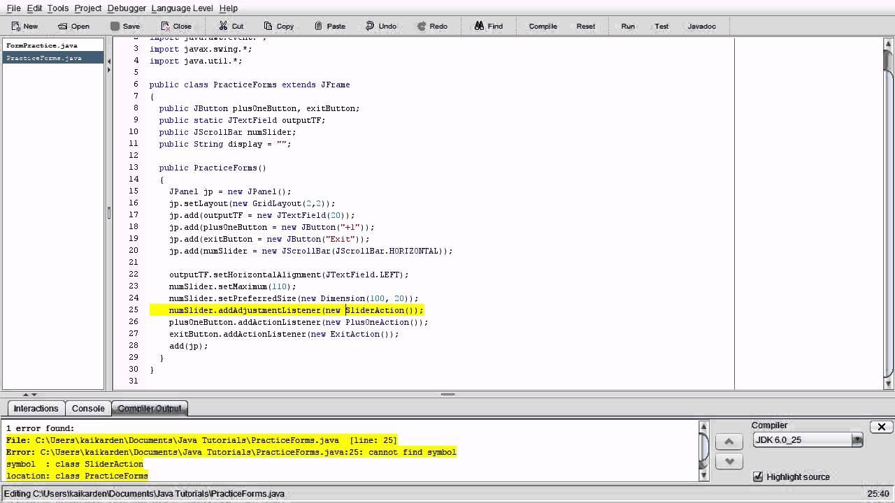 Java Intermediate Programming Tutorials #6 - Menubars, Sliders, and  AdjustmentListeners