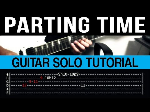 Parting Time - Rockstar Guitar Solo Tutorial (WITH TAB)