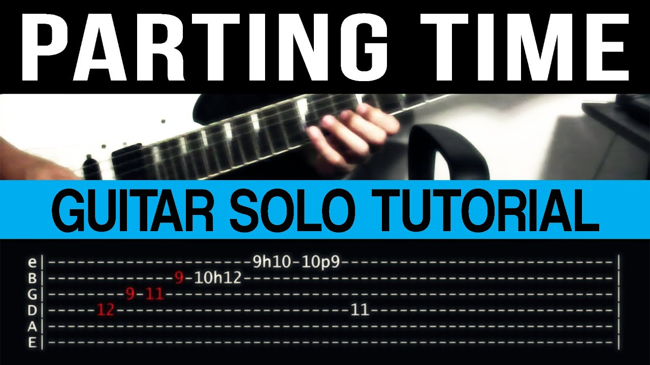 Parting Time Rockstar Guitar Solo Tutorial With Tab Clip