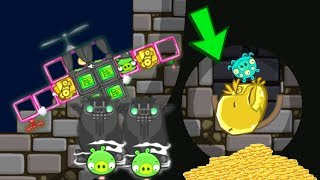 Bad Piggies - THE GOLDEN MIGHTY EAGLE IN SECRET HIDING PLACE STATUES!!