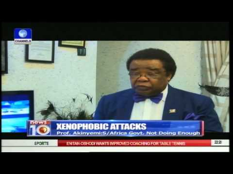 Prof. Bolaji Akinyemi Berates S.African Leaders For Not Doing Enough 22/04/15