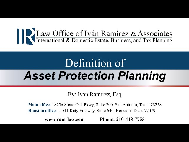 Definition of Asset Protection Planning