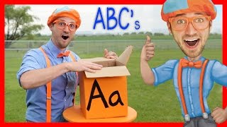 One of Blippi's most viewed videos: Learn The Alphabet With Blippi | ABC Letter Boxes