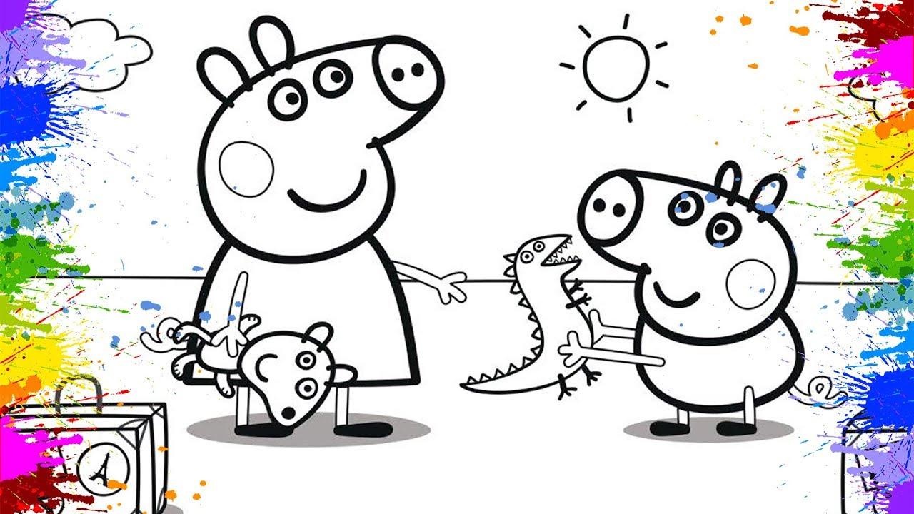 Peppa und George Pig zeichnen lernen für kinder  Zeichnen und