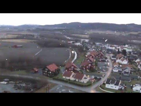 Video over Verdalsøra på dagen for solsnu 2015.