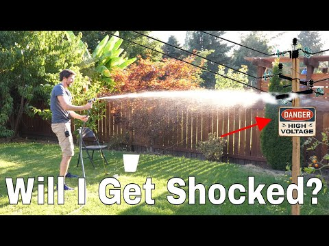 Will I Get Shocked If I Spray a 3,000 Volt Power Line With Water? Can Electricity Travel Upstream?