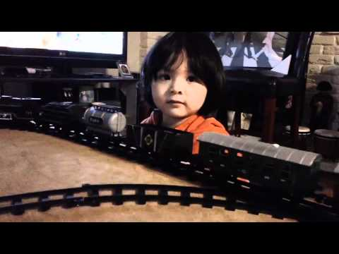 Toy Trains for Kids: My son's NEW Running Train Set Toy (Unboxing Part)