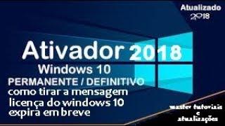 COMO ATIVAR O ( WINDOWS 10 SEM VÍRUS ) →  ATUALIZADO 2018.