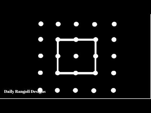 Beginners 5 Dots Padi Kolam Easy Rangoli Kolam Muggulu Simple Rangoli Designs Kolam Design #515