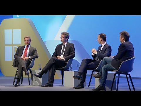 DAT 2018 - Panel Mit Markus Blume, Dr. Robert Habeck Und Christian Lindner