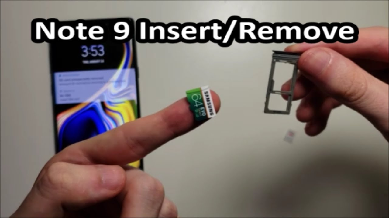 Samsung Galaxy Note 9 SIM Card & Micro SD Card How to Insert