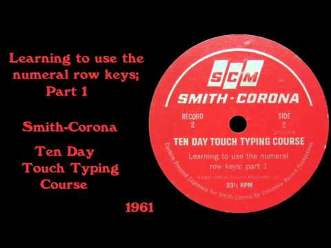 Smith-Corona Ten Day Touch Typing Course