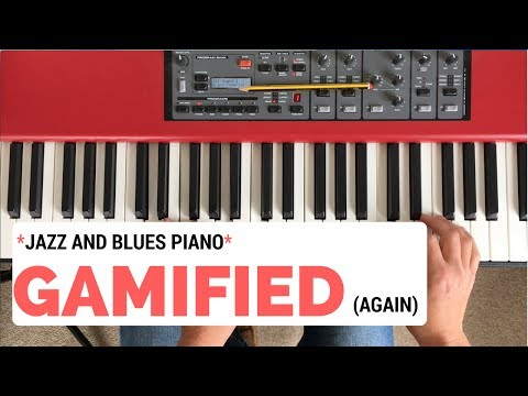 Blues/Jazz Piano GAMIFIED || master improvising on this chord progression in five levels