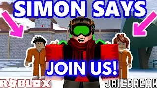 SIMON SAYS AND HIDE AND SEEK FOR CASH || ROBLOX JAILBREAK || LINK IN DESCRIPTION