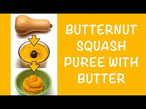 how-to-make-butternut-squash-puree-with-butter-/-easy-recipe