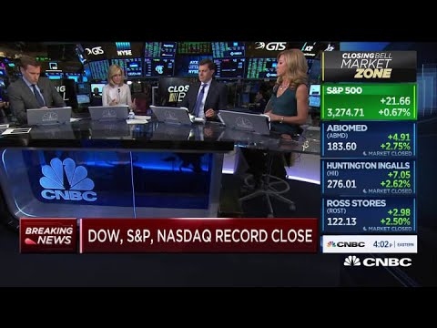 Dow nears 29,000 as major indexes close at record highs