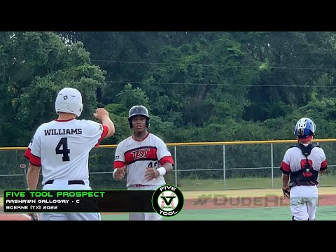 C Rashawn Galloway Silences Trash Talking Parents Boerne Tx 2022 Uncommitted Five Tool Prospect Youtube